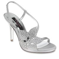 nina silver heel sandels | Nina Rosine – Women's – Shoes – Silver | Bluesphere