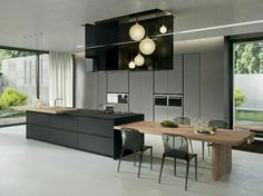Connect your dining table to receive a #hot meal #KitchenDesign #Modern
