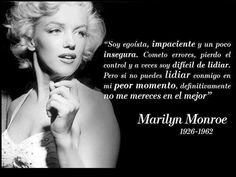 Marilyn for ever Marilyn Monroe Frases, Live Love Life, Audrey Hepburn Quotes, Best Quotes Ever, Welcome To My Page, Real Life Quotes, My Philosophy, Norma Jeane, More Than Words
