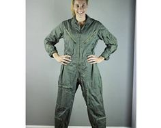 Vintage Flight Suit. 1969. Flight Suit. Coveralls. Flying Man's. Cotton Twill. Military outfit. Jumpsuit. Jump Suit. Vintage Military. Army