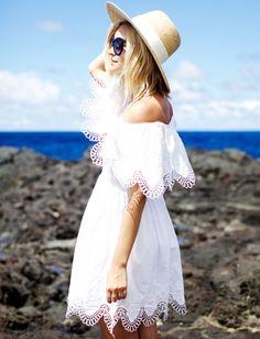 La robe à encolure Bardot, toujours aussi en vogue ! (robe The Jetset Diaries - blog Late Afternoon)