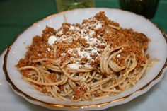 Sicilian Spaghetti with Breadcrumbs