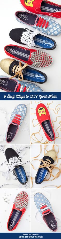 Transform your Keds with these DIY's