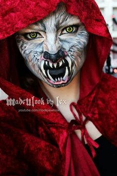 See Mind Blowing Halloween Makeup Transformations Mtv - Halloween See Mind Blowing Halloween Makeup Transformations Ursula Ftw Chrissy Mahlmeister If Youre In Serious Need Of Some Halloween Costume Inspiration Weve Got You Cov Costume Halloween, Halloween Make Up, Halloween Face Makeup, Halloween 2016, Cosplay Makeup, Costume Makeup, Werewolf Makeup, Werewolf Costume, Red Riding Hood Wolf