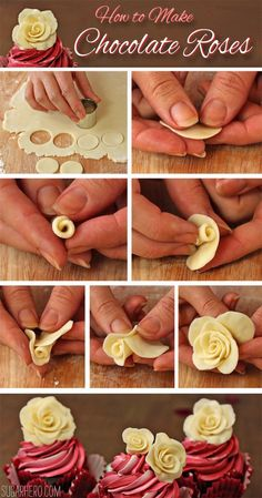 How to make chocolate roses chocolate cupcakes diy recipe recipes easy crafts diy ideas party ideas cakes desert recipe food tutorials