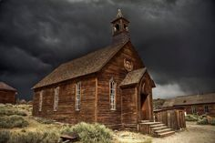old wooden country church