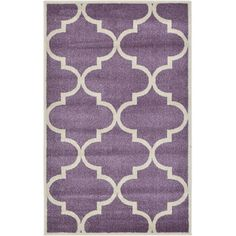 Unique Loom Trellis Purple Area Rug & Reviews   Wayfair