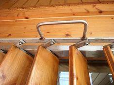 volet persienne verticale mobile en bois pour baie vitrée