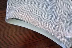 Using Bias Binding as a facing. The understitching here is a great idea.