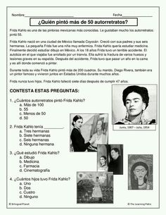 Printable biographies of famous people in Spanish. Great tool for research and in class reading activities. Ap Spanish, Spanish Grammar, Spanish Culture, Spanish Language Learning, Spanish Teacher, Teaching Spanish, Speech And Language, Spanish Classroom Activities, Bilingual Classroom