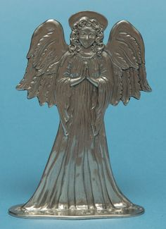 Seagull Pewter Standing Ornament -- Angel, dated Pewter, Ornament, Lion Sculpture, Angel, Statue, Art, Tin Metal, Decorating, Tin