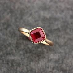 Hey, I found this really awesome Etsy listing at https://www.etsy.com/listing/167348077/asscher-cut-ruby-ring-solitaire-gemstone