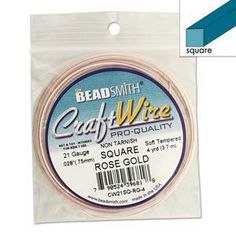 Square Wire Rose Gold 21 Gauge
