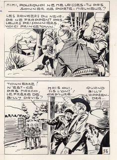 MIKI LE RANGER LES TRAPPEURS  PLANCHE  MONTAGE NEVADA 1959 PIECE UNIQUE PAGE 56 fr.picclick.com