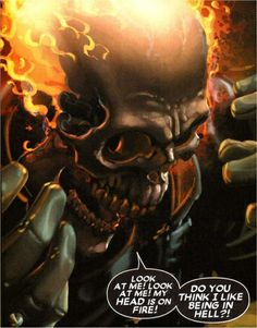 Ghost Rider: Ghost Rider: My head is on Fire