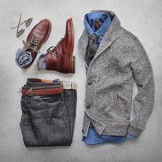 Shawl denim and boots @thepacman82   @stylishmanmag  @shopthatgrid  @ootdchannel