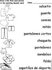 Enchanted learning Spanish stuff