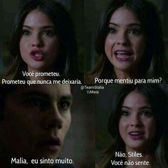Como assim? Stiles E Malia, Teen Wolf Stiles, Wolf Love, Son Luna, Dylan O, Vampire Diaries, Memes, Love Story, Tv Series