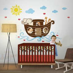 Noah's Ark Wall Decal | Noah's Ark Nursery Decor