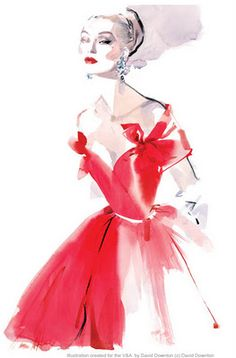 Fashion illustration by David Downton... Used as the lead advertising poster for the V&A's Couture Exhibition in 2010