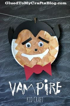 Paper Plate Vampire {Kid Craft}