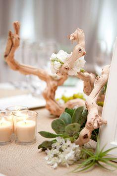 64 driftwood wedding decor ideas to rock succulent wedding i Seaside Wedding, Nautical Wedding, Chic Wedding, Wedding Table, Floral Wedding, Wedding Flowers, Beach Weddings, Wedding Vows, Rustic Wedding