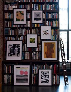 bookcase + hanging art