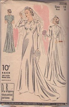 1940s art deco evening dress sewing patterns | 2025 B Vintage 30's Sewing Pattern INCREDIBLE Basque Empire Art Deco ...