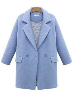 Shop Blue Lapel Long Sleeve Woolen Coat online. Sheinside offers Blue Lapel Long Sleeve Woolen Coat & more to fit your fashionable needs. Free Shipping Worldwide!