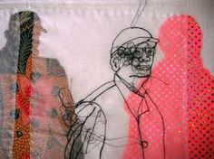 Rosie James - Tourists Contemplating the British Museum detail 2 Contemporary Embroidery, Modern Embroidery, Embroidery Art, Machine Embroidery, Rosie James, Sewing Art, Sewing Ideas, Textiles, A Level Art