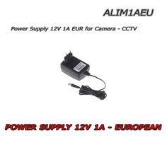 Alimentatore 12V DC adatto all'alimentazione di una singola telecamera di sorveglianza. Attacco europeo,potenza 1A. #videosorveglianza #sicurezza #tvcc #cctv #alimentatore #telecamera