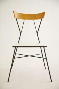 Pavillion Collection Wrought Iron & Plastic Chair designed by Paul McCobb, 1935 Manufacturer: Arbuck Style no. Vintage Furniture, Home Furniture, Modern Furniture, Furniture Design, Wicker Furniture, Plastic Chair Design, Wrought Iron Chairs, Paul Mccobb, Love Chair
