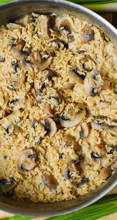 Creamy mushroom & garlic rice #gluten_free #gf #vegetarian #vegetables #rice_recipes