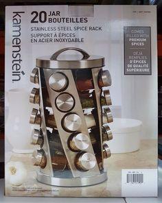 Spice Rack 20 Jar Twist Spin kamenstein stainless steel #Kamenstein