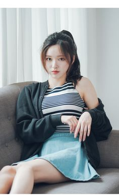 Korean Hairstyles and Fashion - Official Korean Fashion Best Picture For korean beauty trends For Yo Mode Ulzzang, Ulzzang Girl, Cute Korean Girl, Cute Asian Girls, Pretty Asian, Beautiful Asian Women, Korean Beauty, Asian Beauty, Ponytail Styles