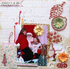 Creating Made Easy December Kit- Christmas layout by Leah Crowe  www.clearscraps.com