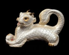 Young Oriental Dragon Statue -- White -- Windstone Editions -- Beautifully Detailed Chinese Dragon Fantasy Figurine -- 531-W