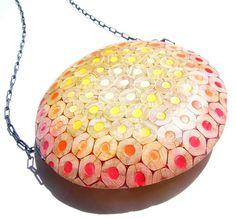 Necklace: 12 necklace 3 by Maria Cristina Bellucci  2012  Coloured pencils, silver