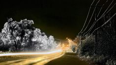 #NationalGeographic #PowerLines #LightTrails #Road #Wallpaper