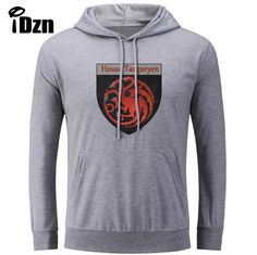 Printed Hoodies Game of Thrones House Targaryen of King's Landing Fire and Blood Sweatshirts Tops S-3XL