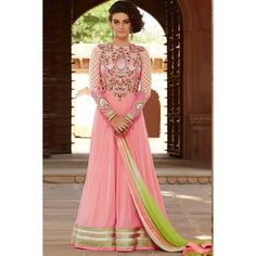 Online shopping, Anarkali churidar soft net cheap indian prom suits, Pink hand embroidered andaaz apparel now in shop. Andaaz Fashion brings latest designer ethnic wear collection in UK