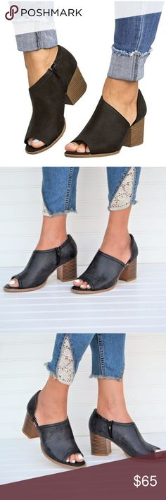 297b4a4e950 Coming SOON! Mata Black Cutout Booties Get your booties that are good all  season long