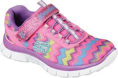 Skechers Girls' Skech Appeal Ziggy Zag Training Shoe 81872L-NPMT,    #Skechers,    #81872LNPMT,    #BungeeLaceShoes