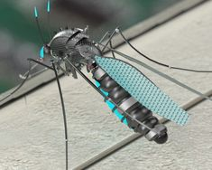 Mosquito Killer Robot created in PARTsolutions by Dape - Thingiverse Arte Robot, Robot Art, Robots, Mechanical Engineering Projects, Robot Animal, Hidden Spy Camera, Mosquito Killer, Impression 3d, Nanotechnology