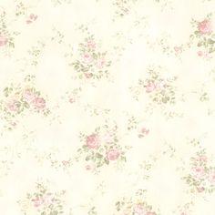 436-66407 Blush Rose Bouquet - Carolina - Brewster Wallpaper