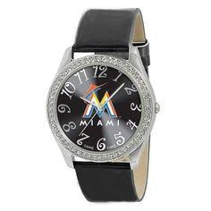 Miami Marlins MLB Ladies Glitz Series Watch