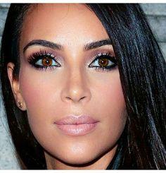 Kim Kardashian makeup and eyelashes... - Kim Kardashian Style