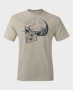 Skull Diagram - Skull Shirt - Screenprint Tshirt - Womens Graphic Tee - Unisex - Graphic Tshirt - Graphic Tee - Cool Gifts for Men
