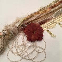 Fiber Art, Sarah Collection #1,  Embellishments, Cards, Gift Tags, Scrapbooking, Arts an Crafts by smtiffanylane on Etsy