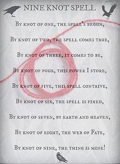 Nine Knot Red String Spell Wicca 💫⭐️🌙🌖🌬💦🌑💯❗️ Witch Spell Book, Witchcraft Spell Books, Hoodoo Spells, Magick Spells, Tattoo Voodoo, Voodoo Doll Spells, Charmed Book Of Shadows, Spells For Beginners, Luck Spells